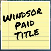 Windsor Paid Title when using top dallas lender