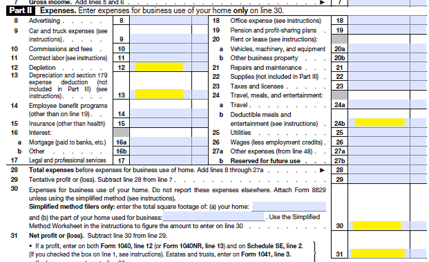 Schedule C Income MortgageMark – Self Employed Income Calculation Worksheet